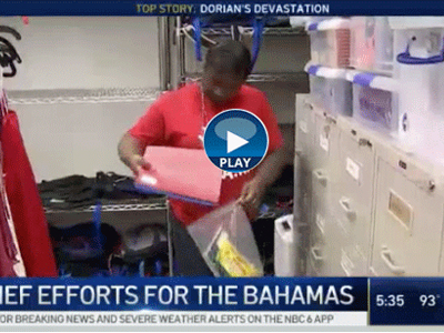 Watch the NBC 6 story with information on Broward County Public Schools Hurricane Dorian relief and recovery efforts.