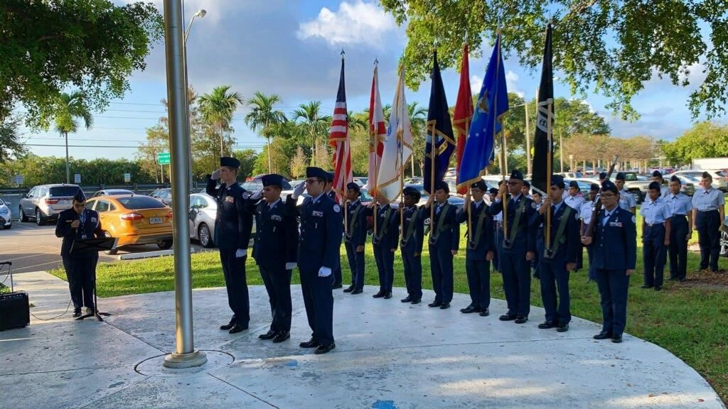 Coral Springs High School Air Force JROTC Receives USAF Distinguished Unit Merit Award