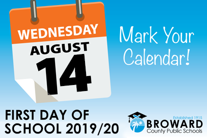 BCPS Announces 2019/20 School Year Calendar First Day of School is Wednesday, August 14, 2019
