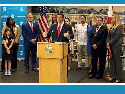 Bayview Elementary School Welcomes Florida Governor Ron DeSantis