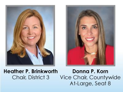 Broward County School Board Elects  Heather P. Brinkworth as Chair and Donna P. Korn as Vice Chair