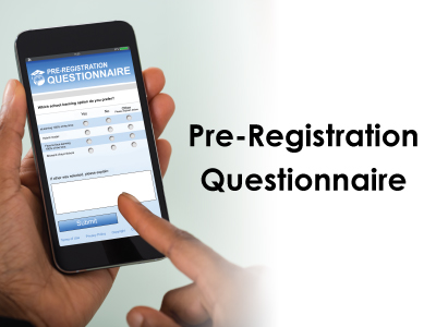 Reminder: Parent and Guardian Pre-Registration Questionnaire