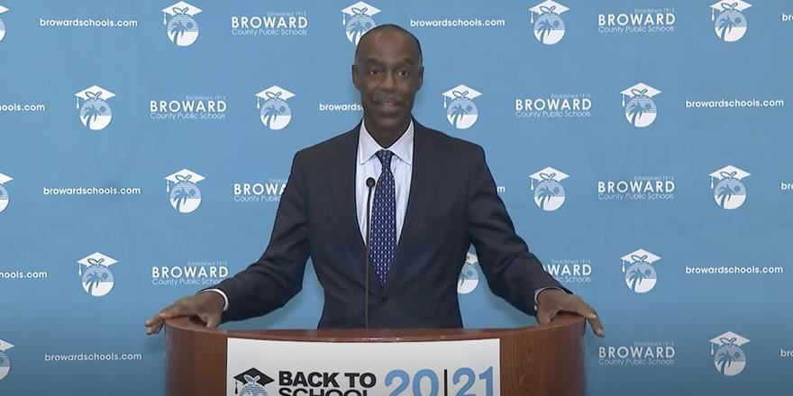 Superintendent Runcie held a news conference on Friday, October 9, following the first day of face-to-face instruction on school campuses.