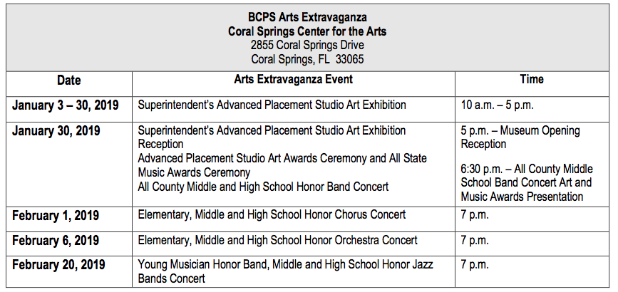Ring in the New Year with the BCPS Arts Extravaganza