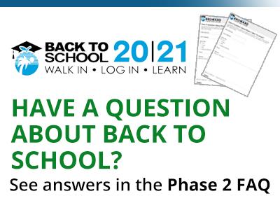 Submit your Back To School questions and find answers on the FAQs (Frequently Asked Questions).