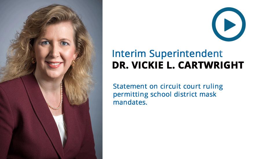 Message from Interim Superintendent