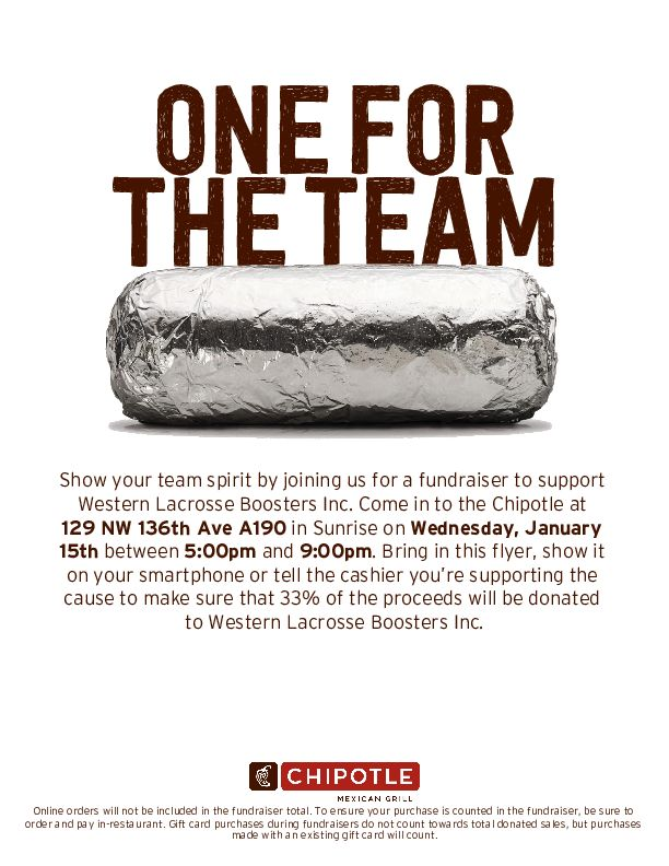 Chipotle Fundraiser