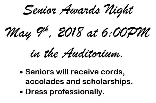 Senior Awards Night Information