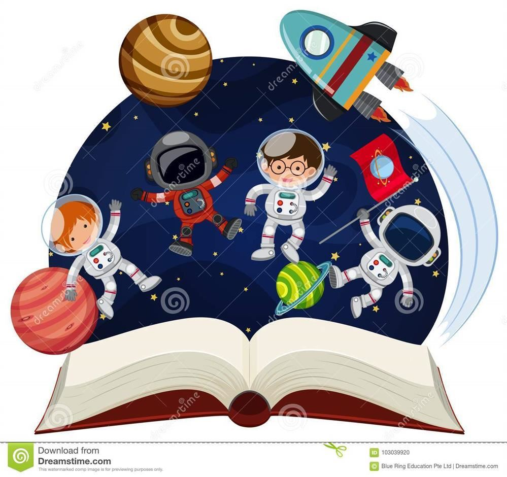 astronauts in space reading books - photo #28