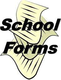 Back to School Online Forms for 2020-21