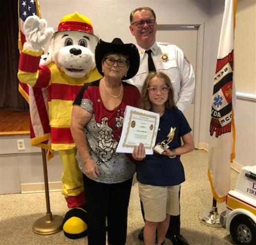 Stella, the SRE Fire Prevention Essay Contest Winner