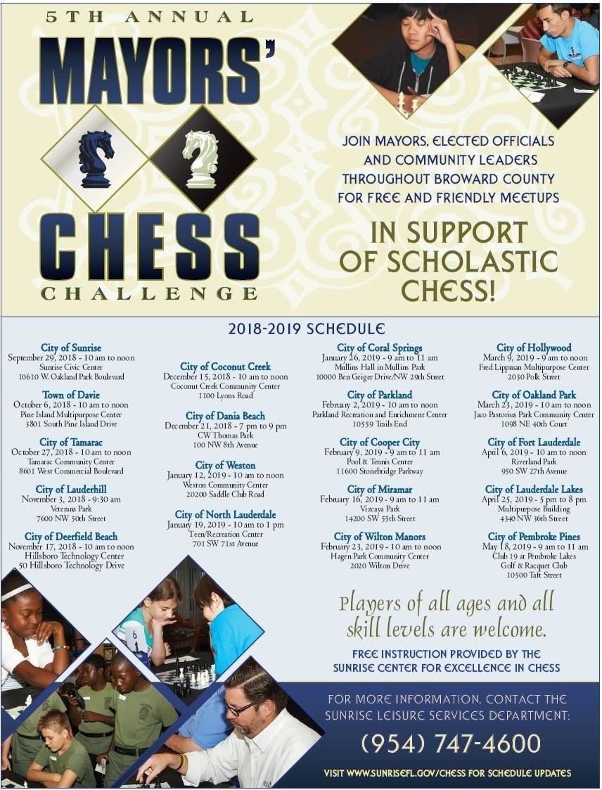 5th Annual Mayors' Chess Challenge!
