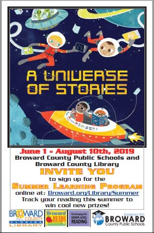 Broward County Library and BCPS Summer Reading Program 2019