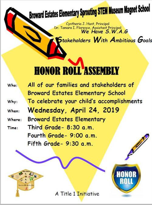 3-5 Honor Roll Flyer