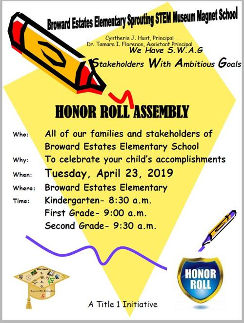 K-2 Honor Roll Flyer