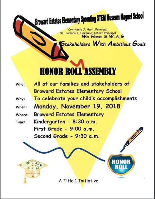 K-2 Awards Ceremony Flyer