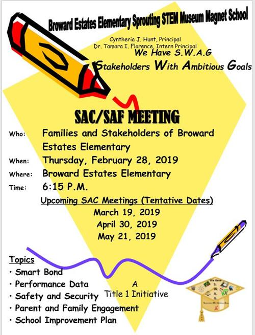 SAC/SAF Meeting Flyer