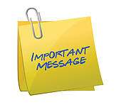 Important message logo