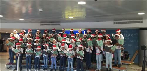 Chorus singing lets make christmas