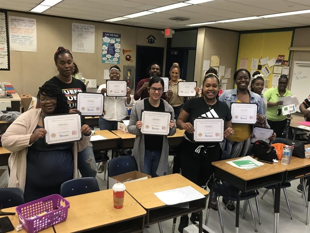 Parents Complete Title 1 Training