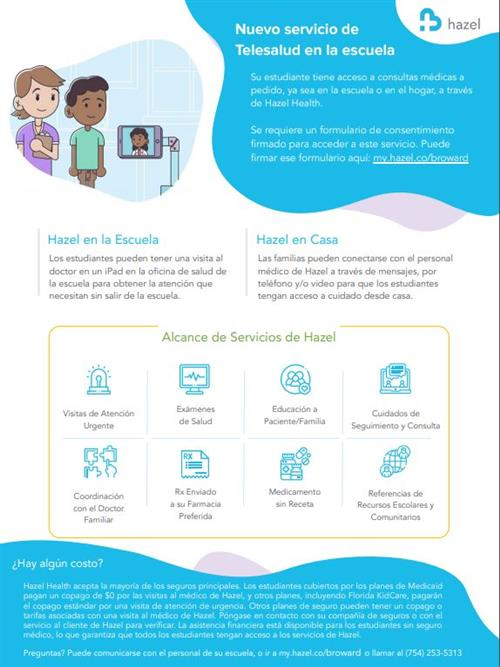 Telehealth Services for Your School Spanish