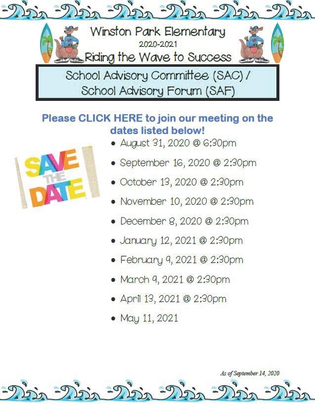 School Advisory Council Meetings