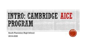 Cambridge AICE Program