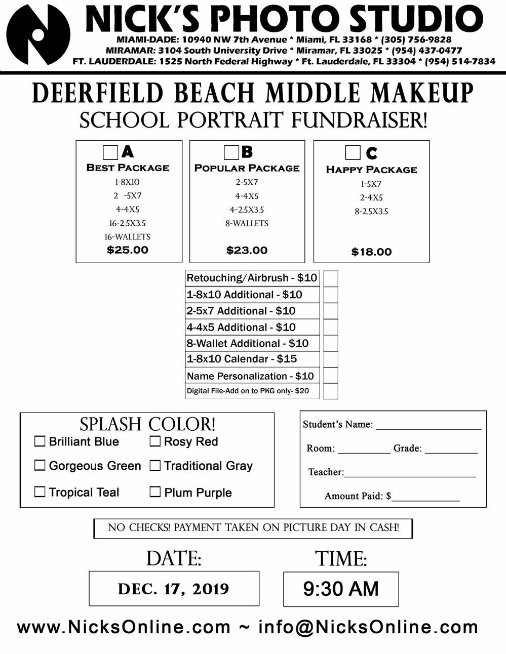 Make-Up Picture Day Flyer