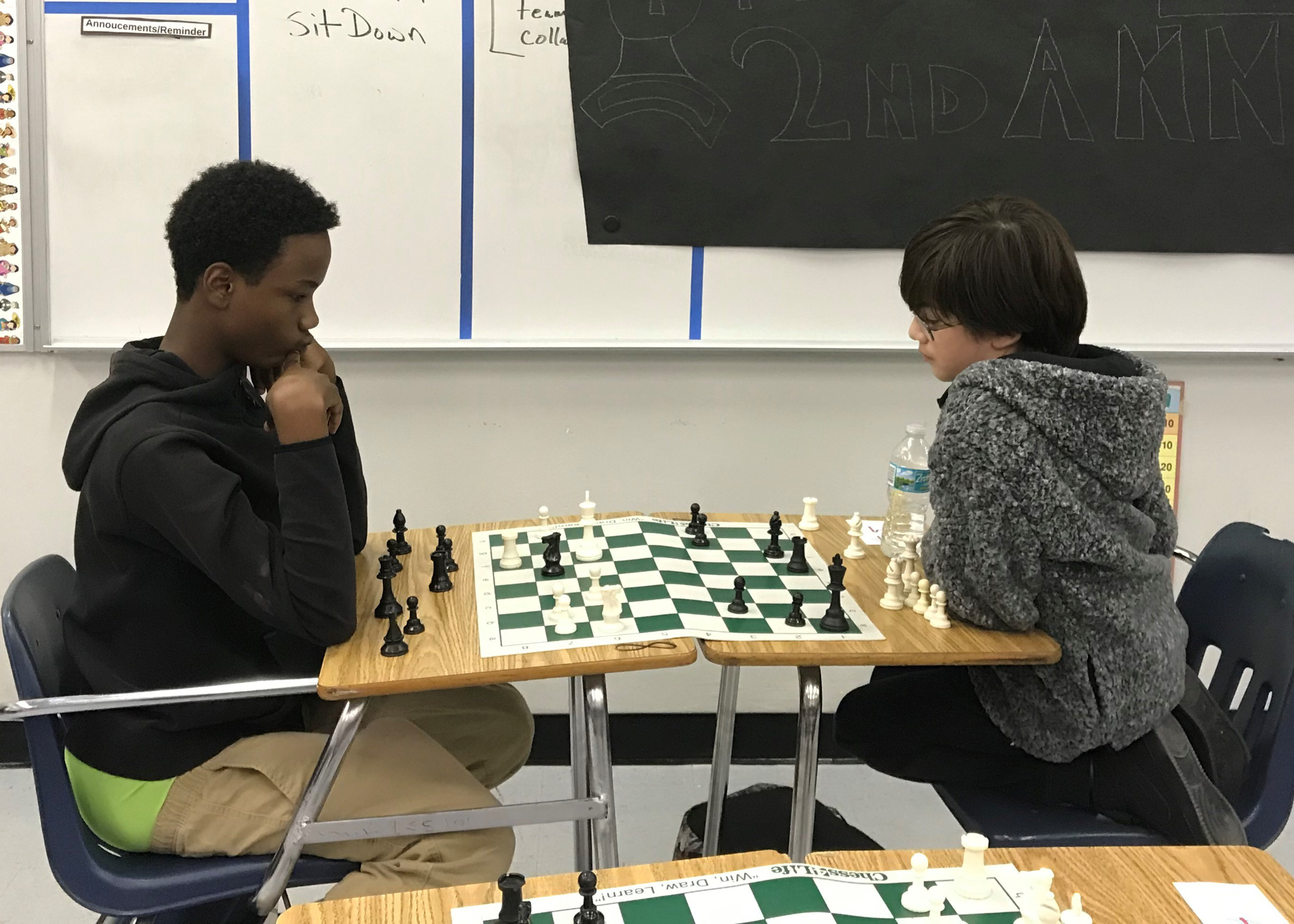 Chess In action