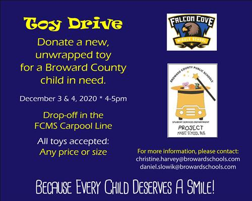 Falcon Cove Toy Drive Information