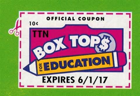 Box Tops For Education 2018-19