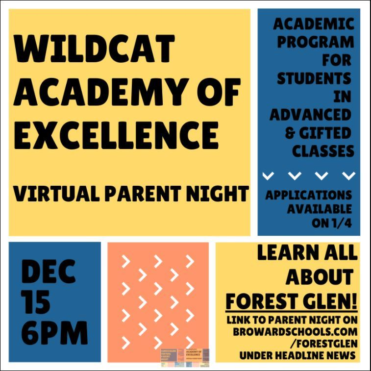 Incoming 5th Graders - Wildcat Academy of Excellence Parent Night