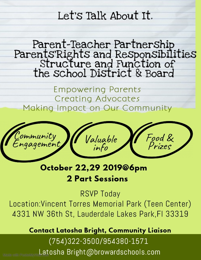Empowering Parents, Creating Advocates  and Making Impact on Our Community