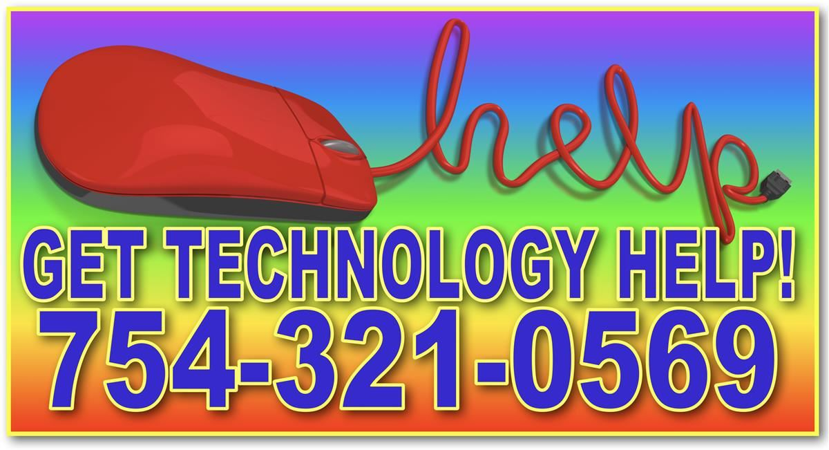 TECHNOLOGY HELPLINE 754-321-0569!  Parents, students, teachers & staff can call for help with any technology question related to our district computer devices. No need to leave a message at the school, call for immediate help. Monday -Friday, 8AM-4PM