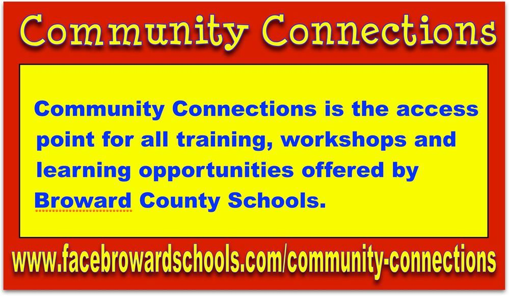 Community Connections! Now you can access training, workshops and resources all at one site. Click this notice to learn more.