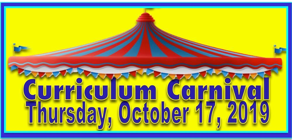 Curriculum Carnival, Tuesday, October 30th. Pizza served at 5:45 p.m., Classroom Events start at 6:15 p.m.