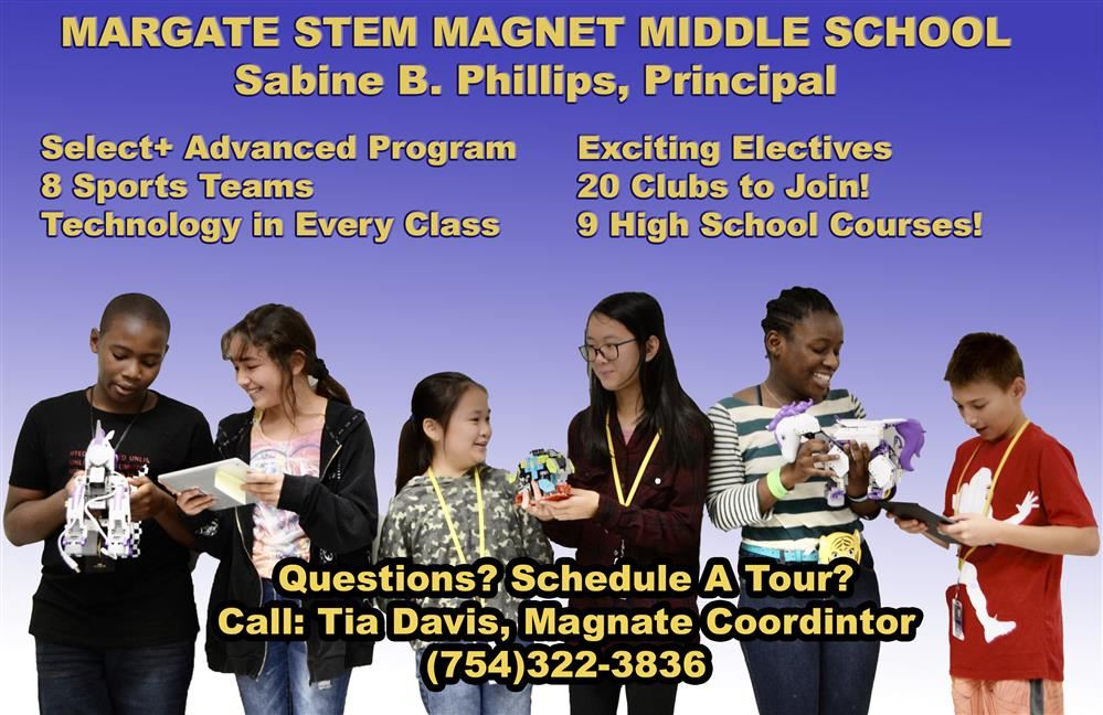 MMS's Magnet Open House for incoming students will take place this Thursday, January 30th at 6PM. If you have a 5th grader who would love our high tech, high quality educational setting, join us on Thursday evening!