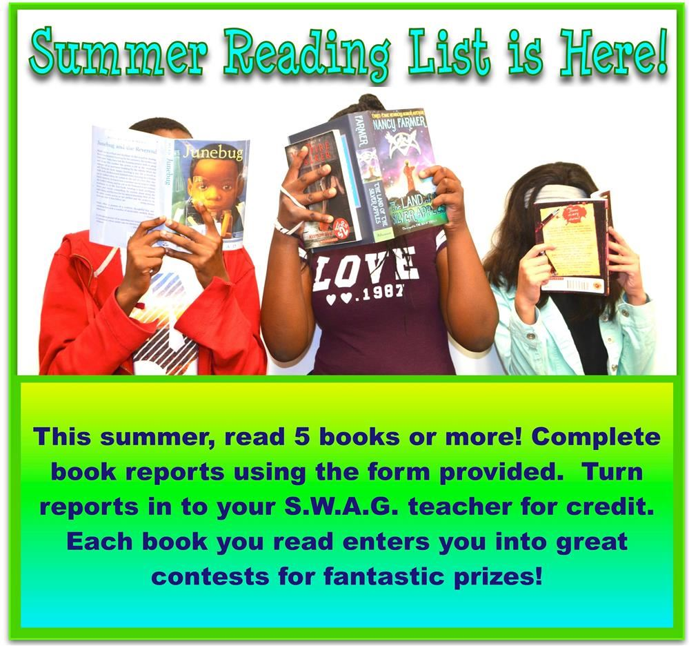 (Click Here)For Your Summer Reading List!