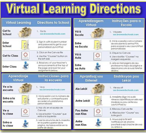 Directions for Virtual Online Learning