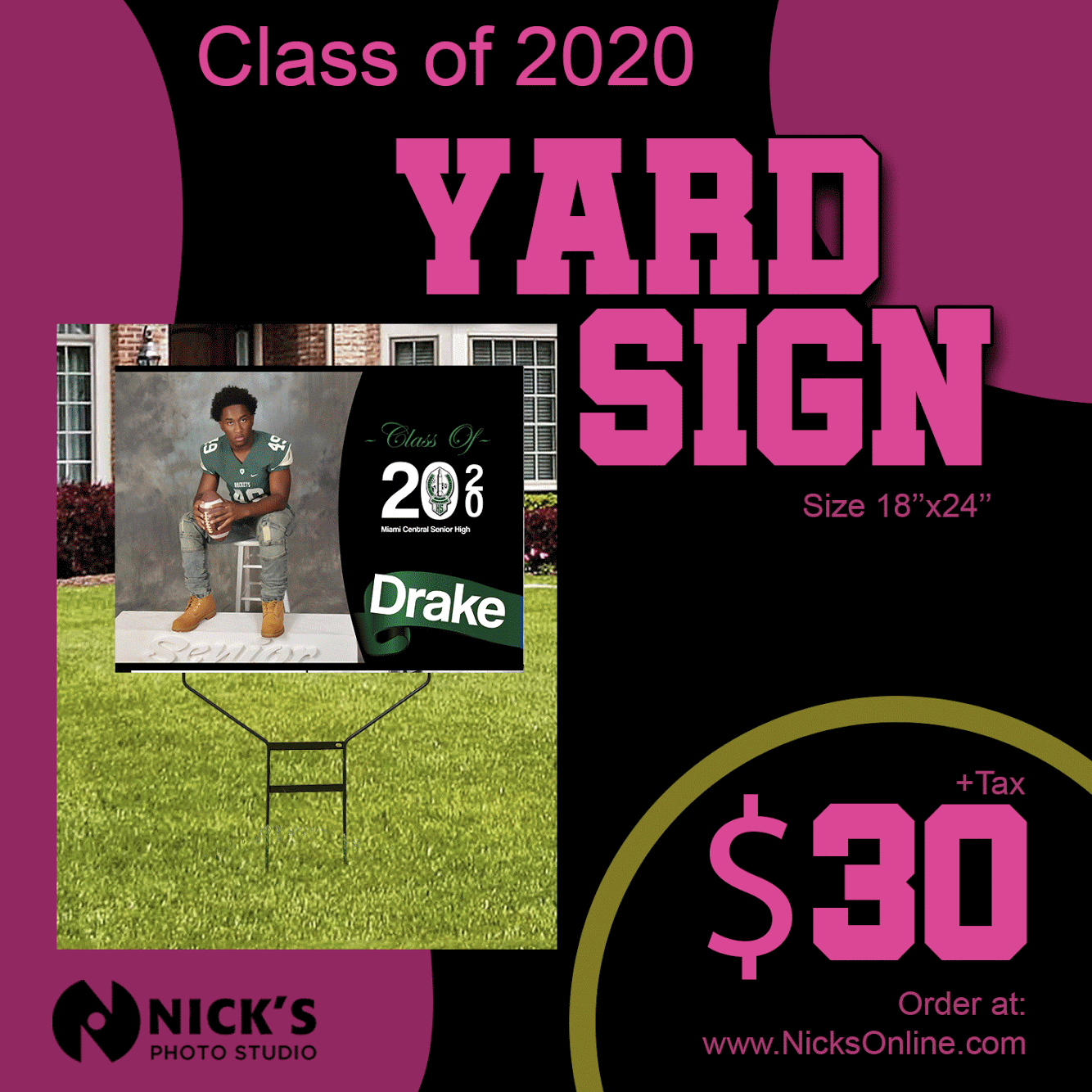 senior yard sign flyer