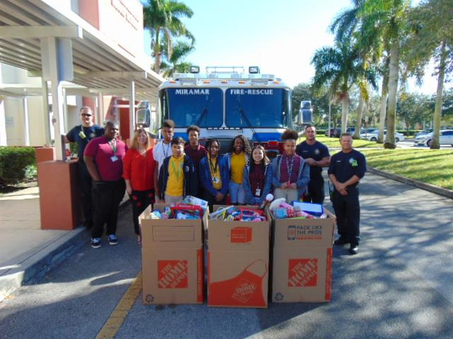 Cavaliers Contribute to Miramar Firefighters Annual Toy Drive