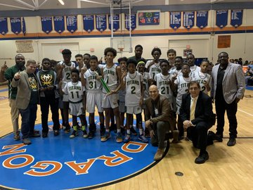 Nova Middle Titans Win District Championship Basketball Game!