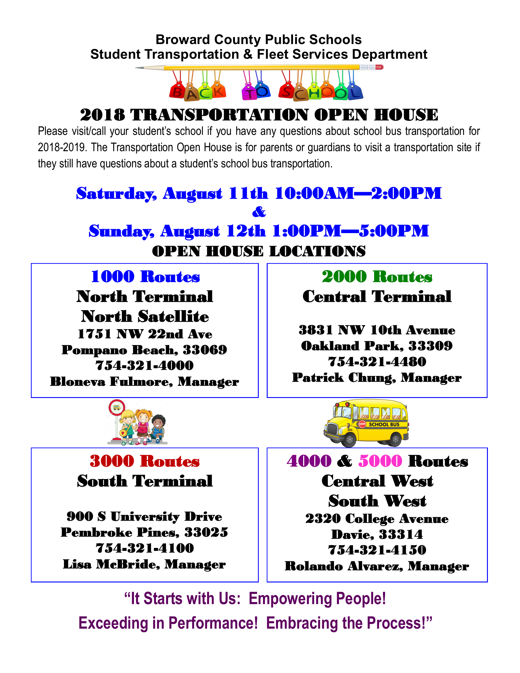 BCPS Transportation Open House