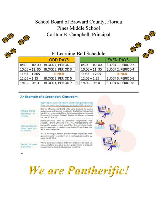 E-Learning Bell Schedule