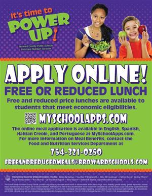 APPLY/REAPPLY FREE AND REDUCED LUNCH 2020-2021