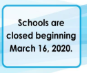 BCPS Closed Through 5/1/2020