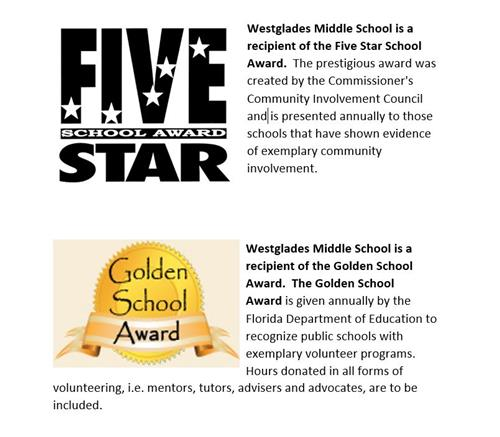 5 star and golden school award