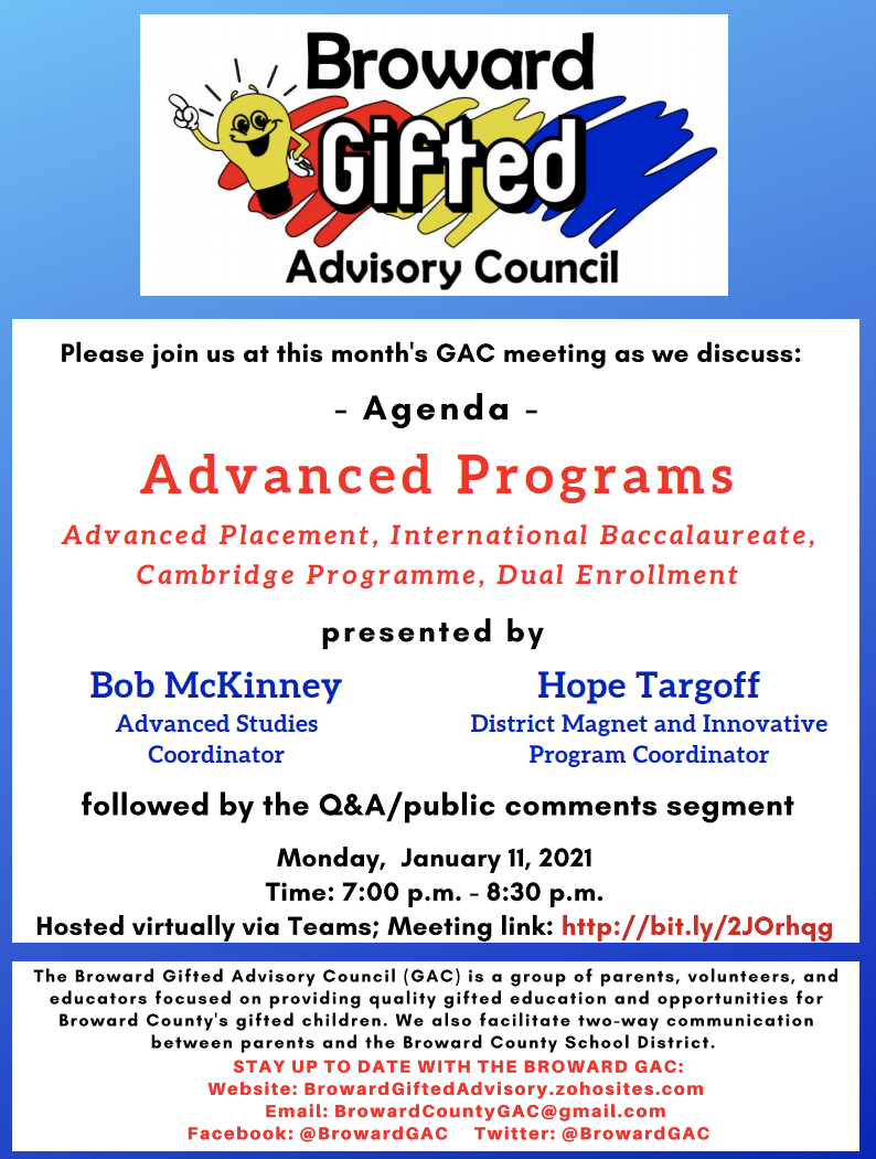 Gifted Advisory Meeting