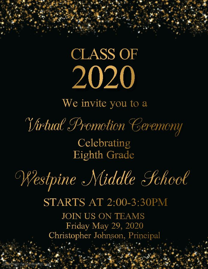 Click on this Link to join the 8th Grade Promotion Ceremony