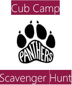 Westpine Middle School Cub Camp Scavenger Hunt